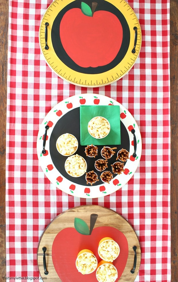 back to school teacher gift tray