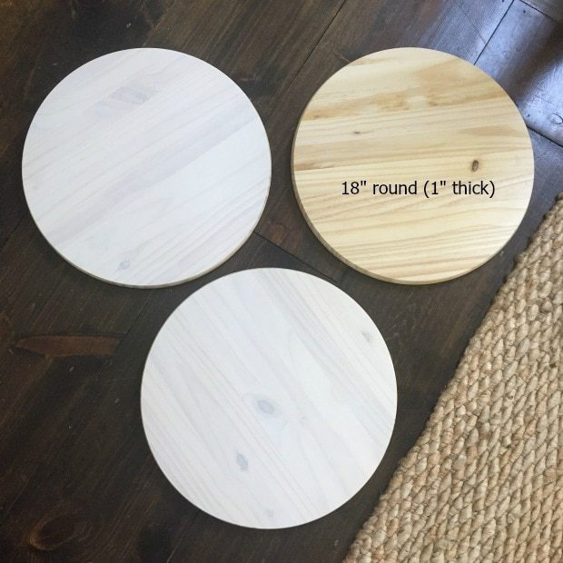 "18"" round precut wood circle"