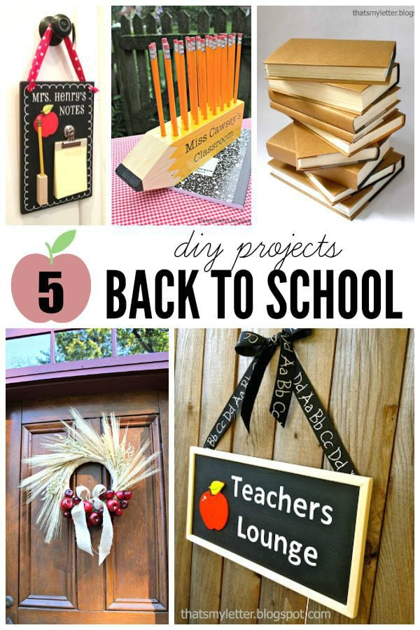 5 diy back to school projects