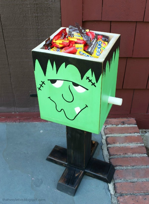 diy Frankenstein candy box free plans