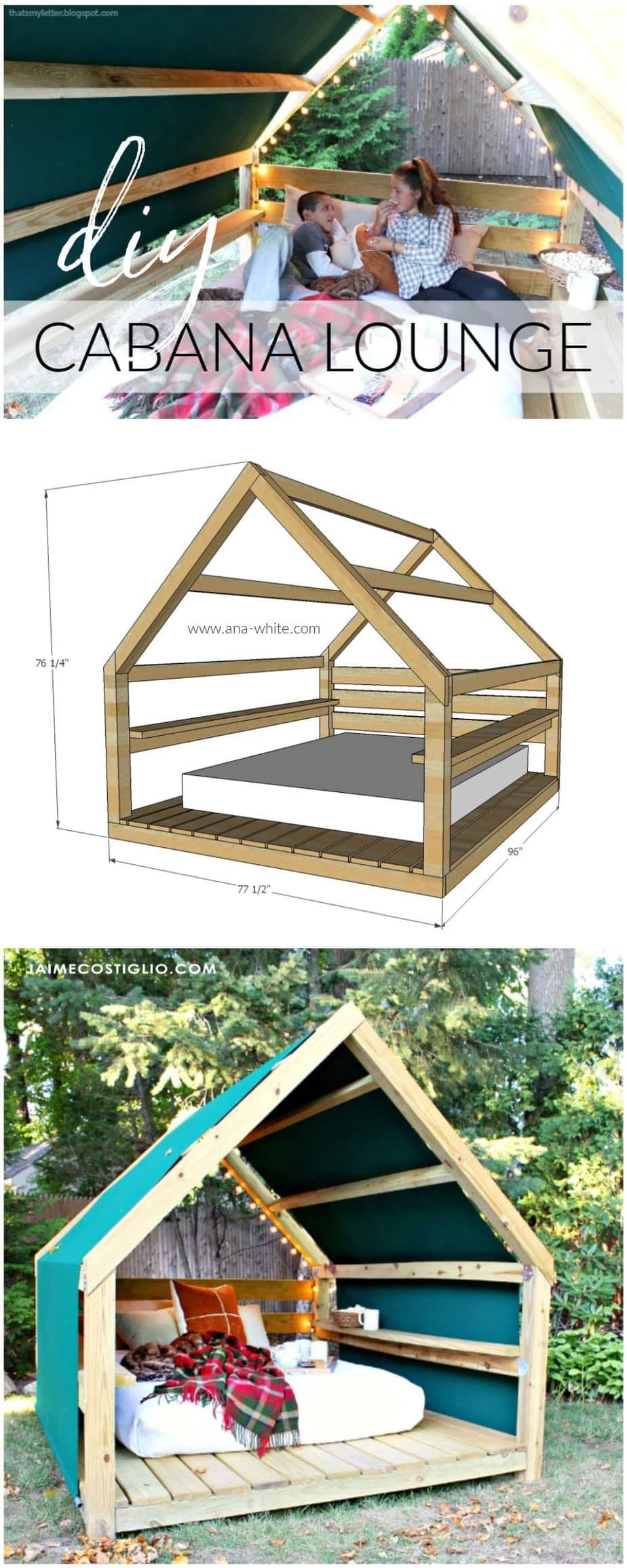 diy outdoor cabana lounge plans