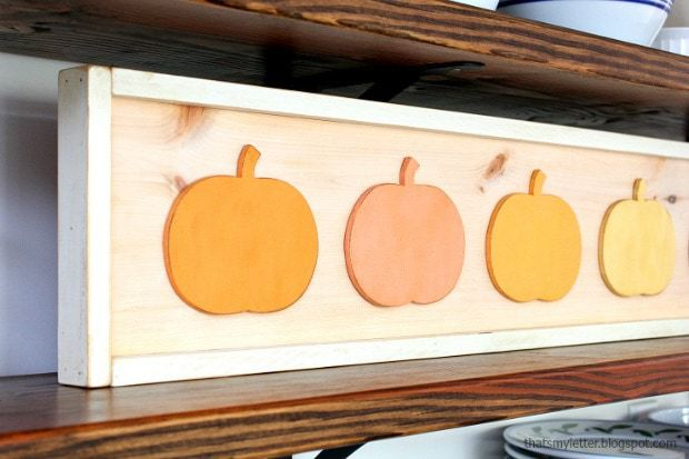 diy framed pumpkins