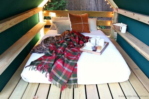 queen size camping mattress in cabana