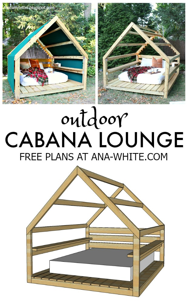 free plans diy outdoor cabana lounge
