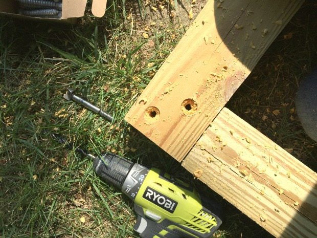 connecting lap joints with lag bolts