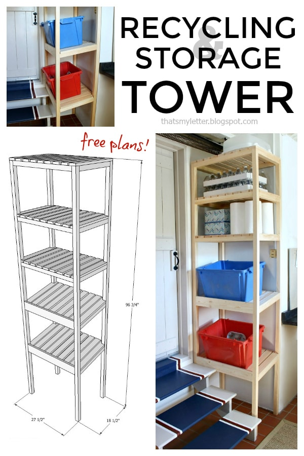 recycling storage tower free plans