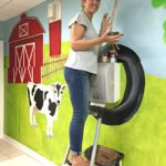 DIY Painted Farmyard Wall Mural in Kids Bathroom