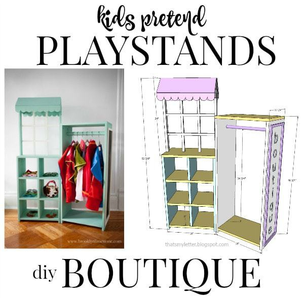 kids pretend playstand boutique
