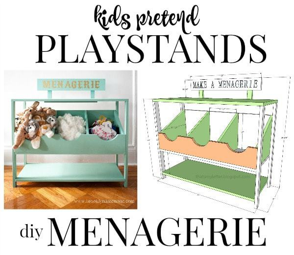 kids pretend playstand menagerie