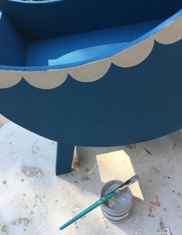 diy moon doll bassinet paint steps