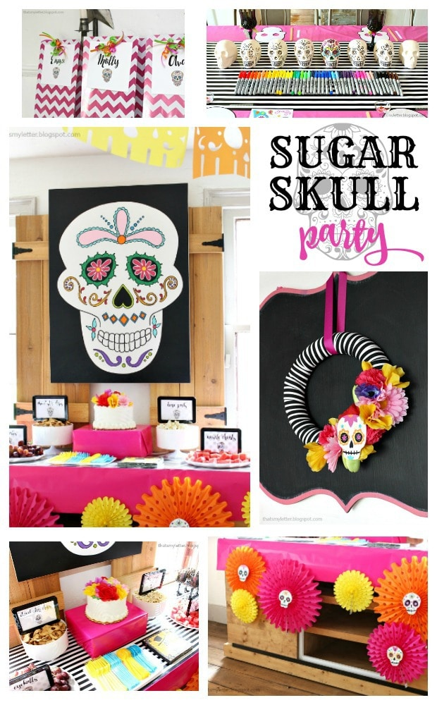 diy sugar skull party