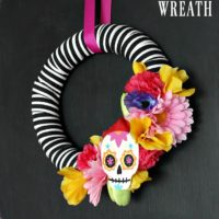 sugar skull party wreath