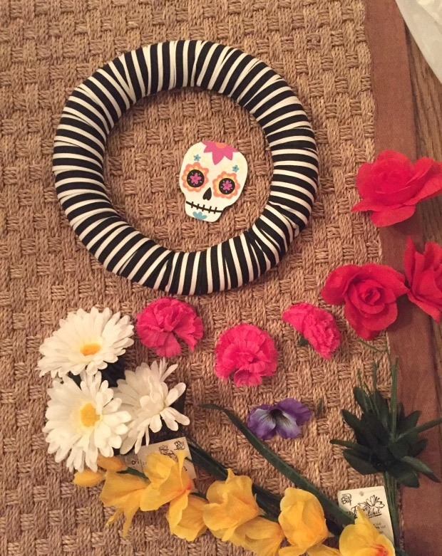 diy sugar skull wreath tutorial