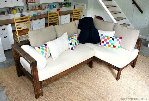 diy sectional sofa using two crib mattresses