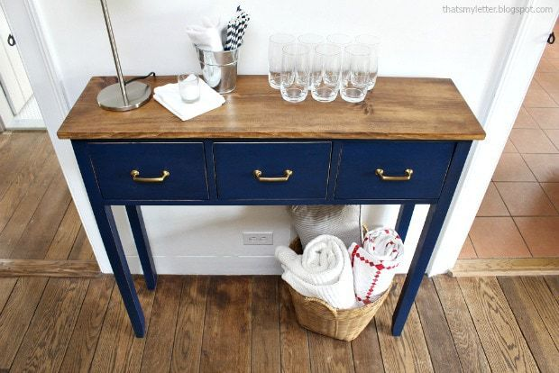 diy dining room sideboard with 3 drawers