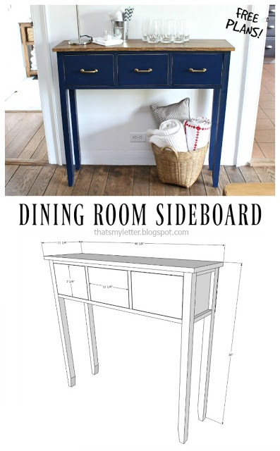 diy dining room sideboard free plans