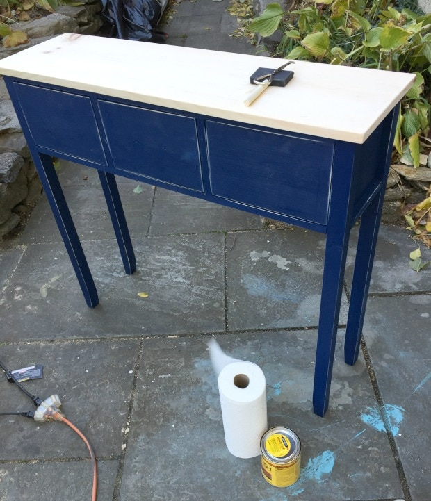 diy dining room sideboard finish