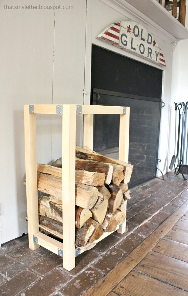 diy indoor log holder
