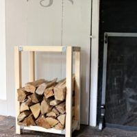 Build an Indoor Log Holder