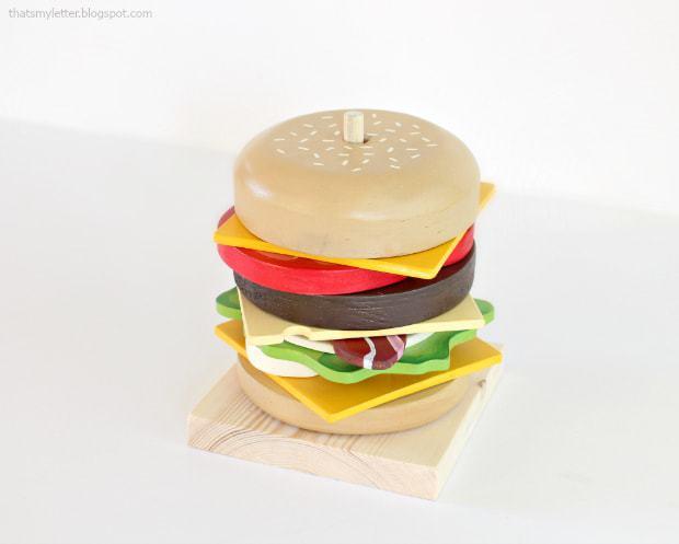 diy stacking burger play food