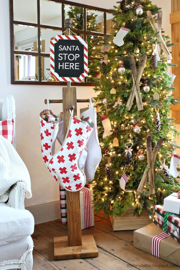 diy stocking post christmas decor