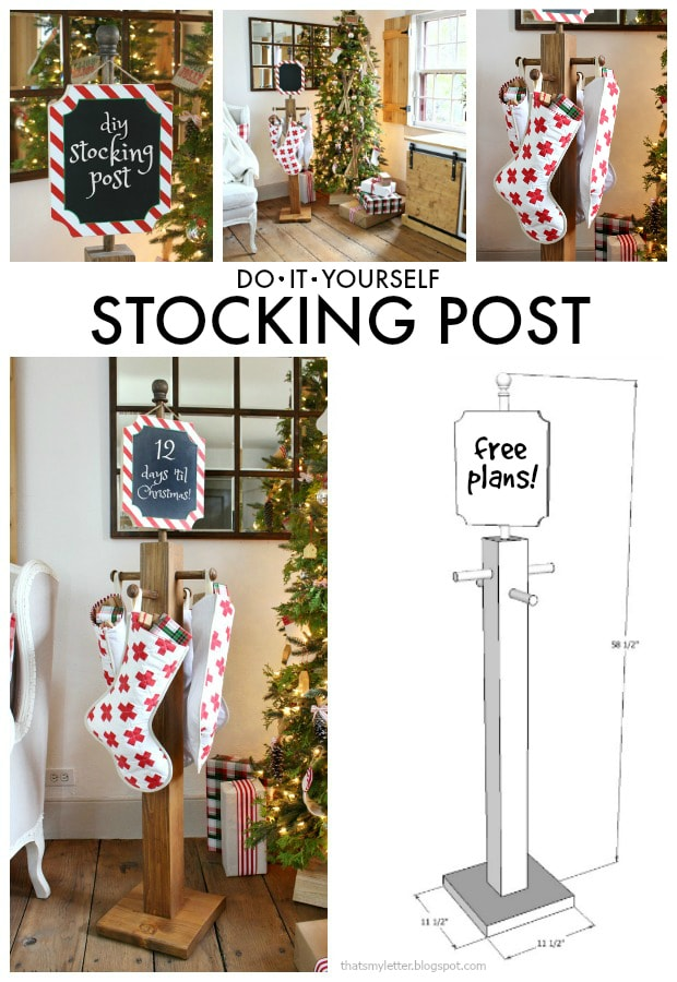 diy stocking post free plans
