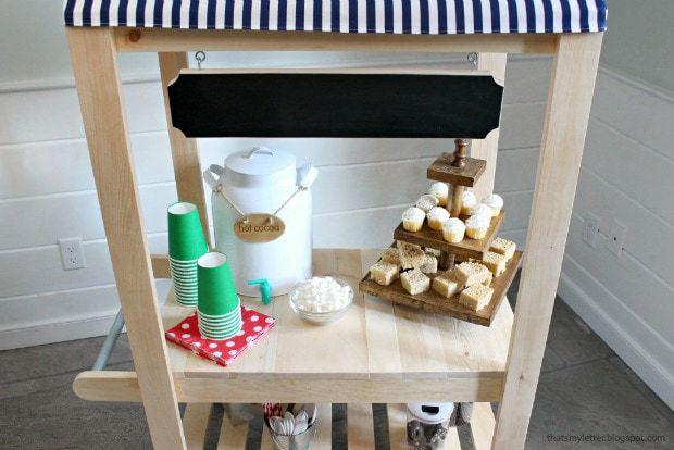 diy kids vendor cart with desserts