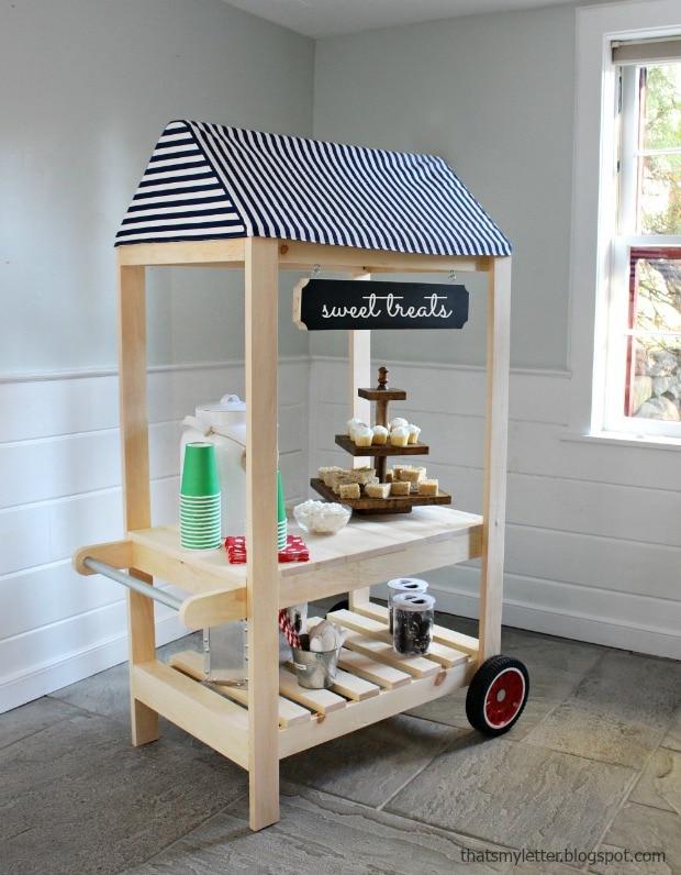 kids sweet treats cart with wheels