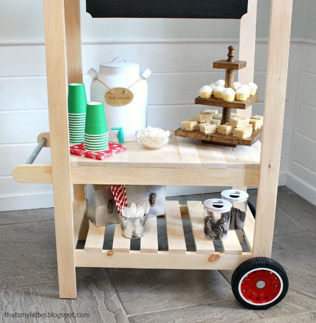 kids cart with two shelves