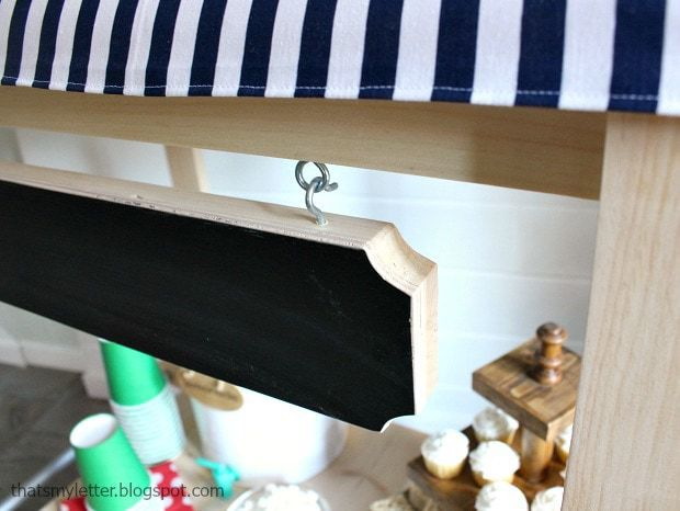 kids cart with removable hanging sign