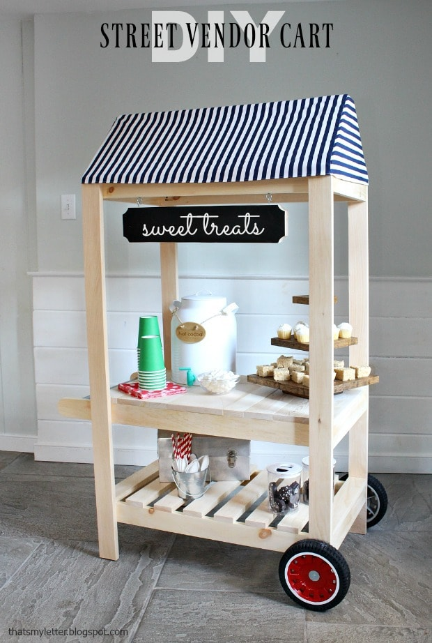 diy street vendor cart for kids play