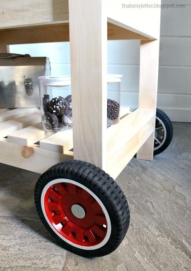 diy street vendor cart with lawn mower wheels