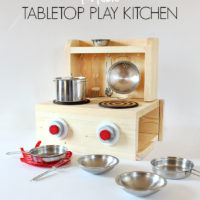 DIY Portable Tabletop Play Kitchen