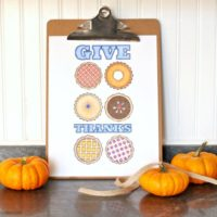 Give Thanks Pie Coloring Free Printable