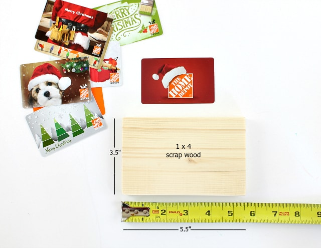 diy gift card holder construction