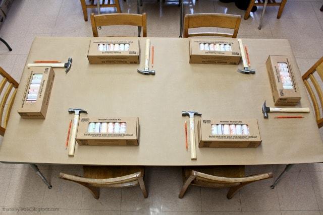 kids workshop wooden toolbox kit