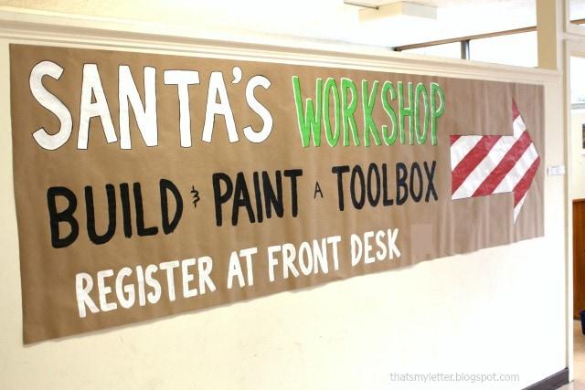 Santa's workshop build and paint a toolbox