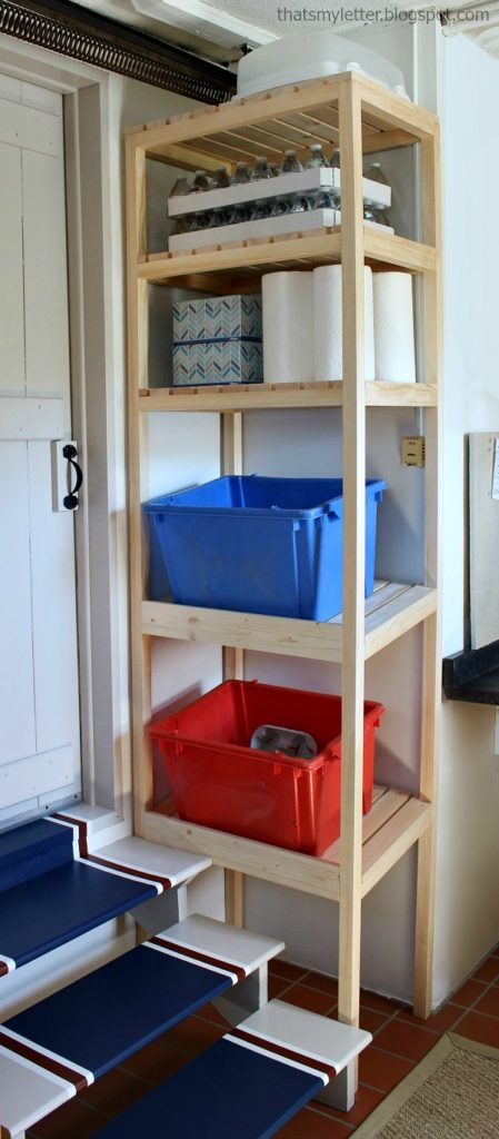 diy recycling and storage tower