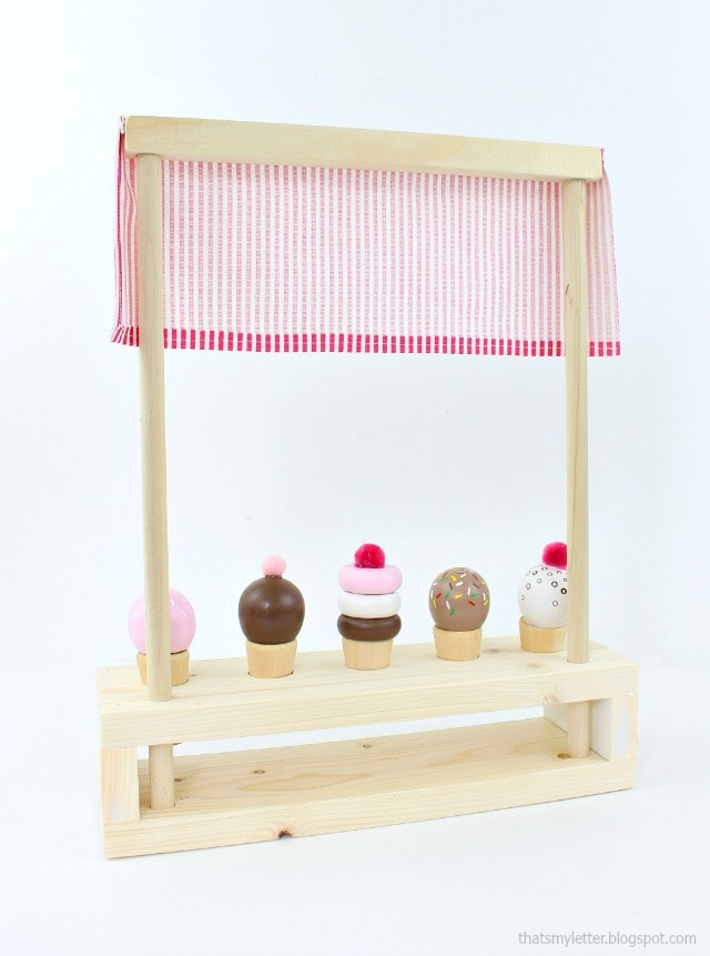 diy tabletop ice cream parlor