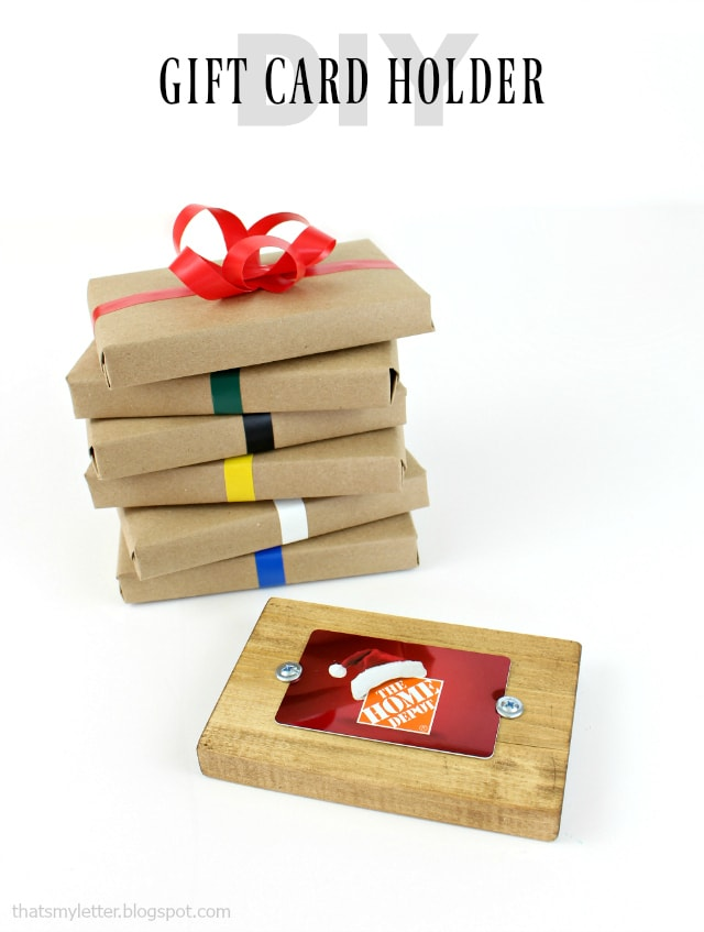 diy wood gift card holder