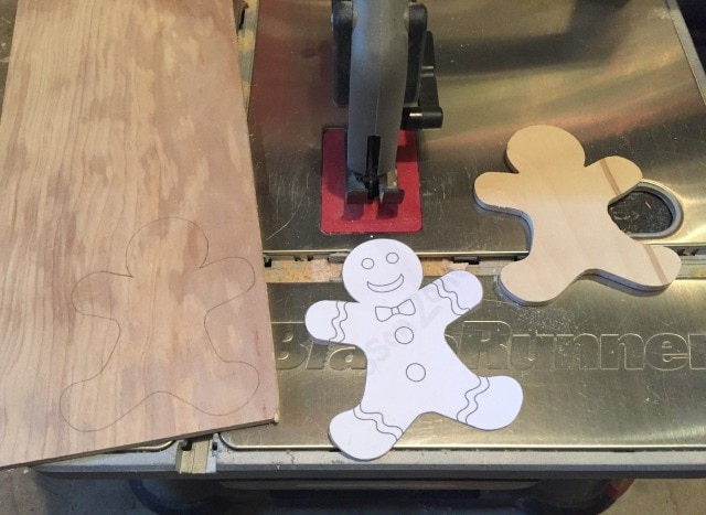 diy gingerbread wood cut outs placecards
