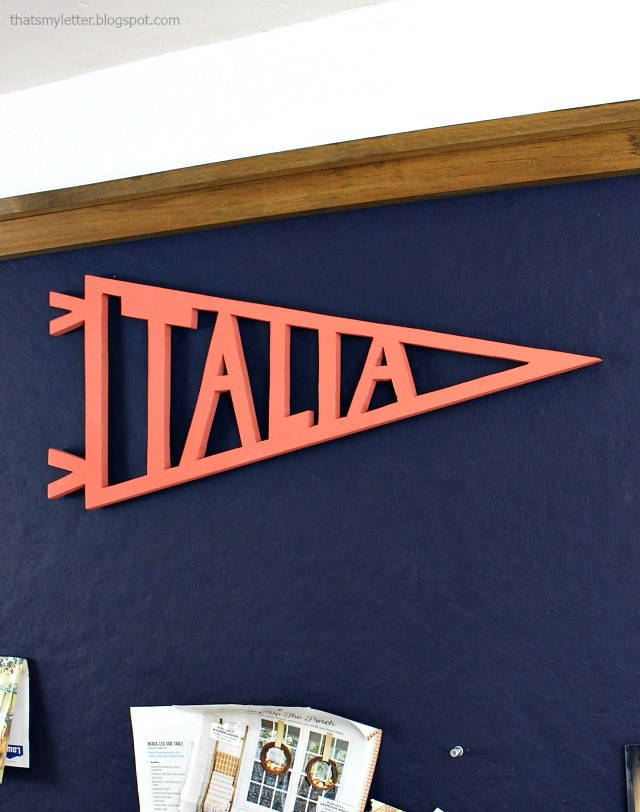 diy cut out pennants