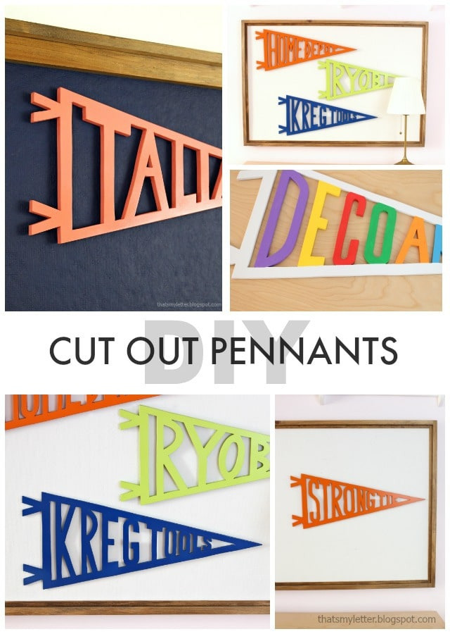 cut out pennants