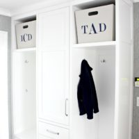 mudroom cubby bins