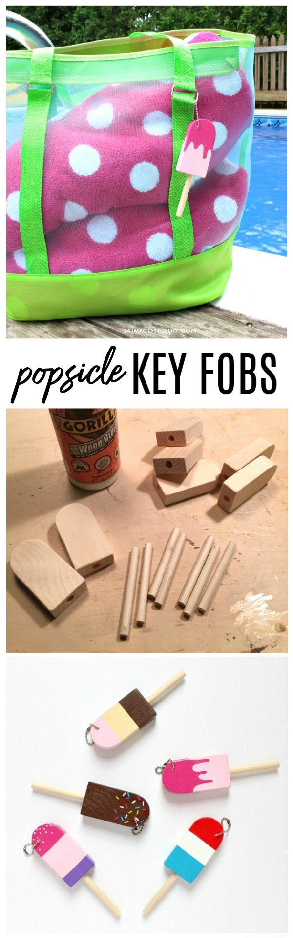 diy popsicle key fobs
