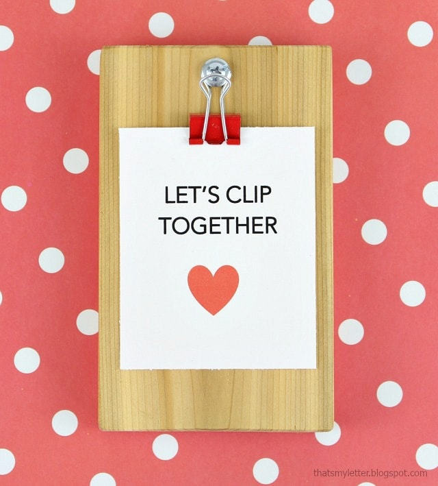 diy clipboard valentines with cardstock