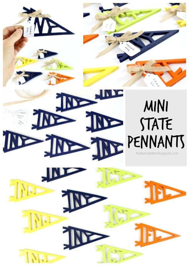 diy mini state pennants
