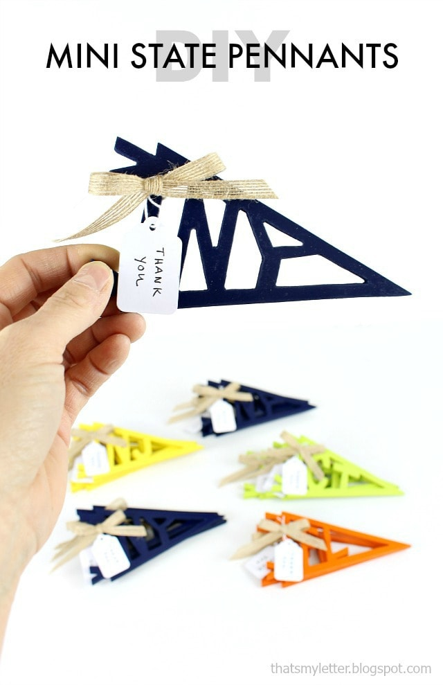 diy mini state pennants