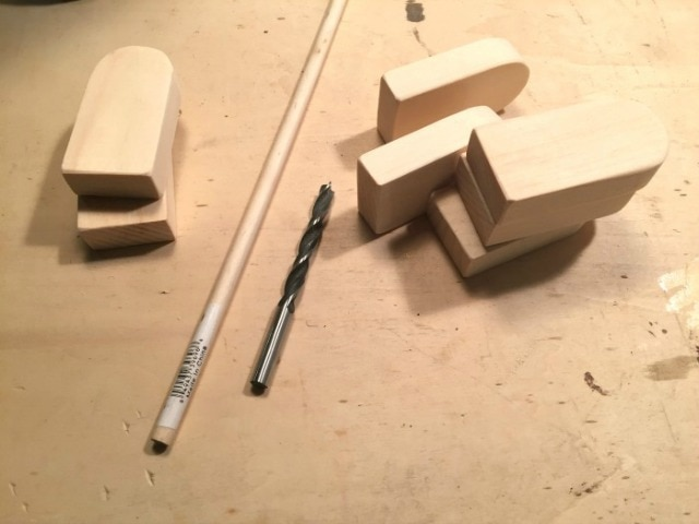 cut wood dowel for stick