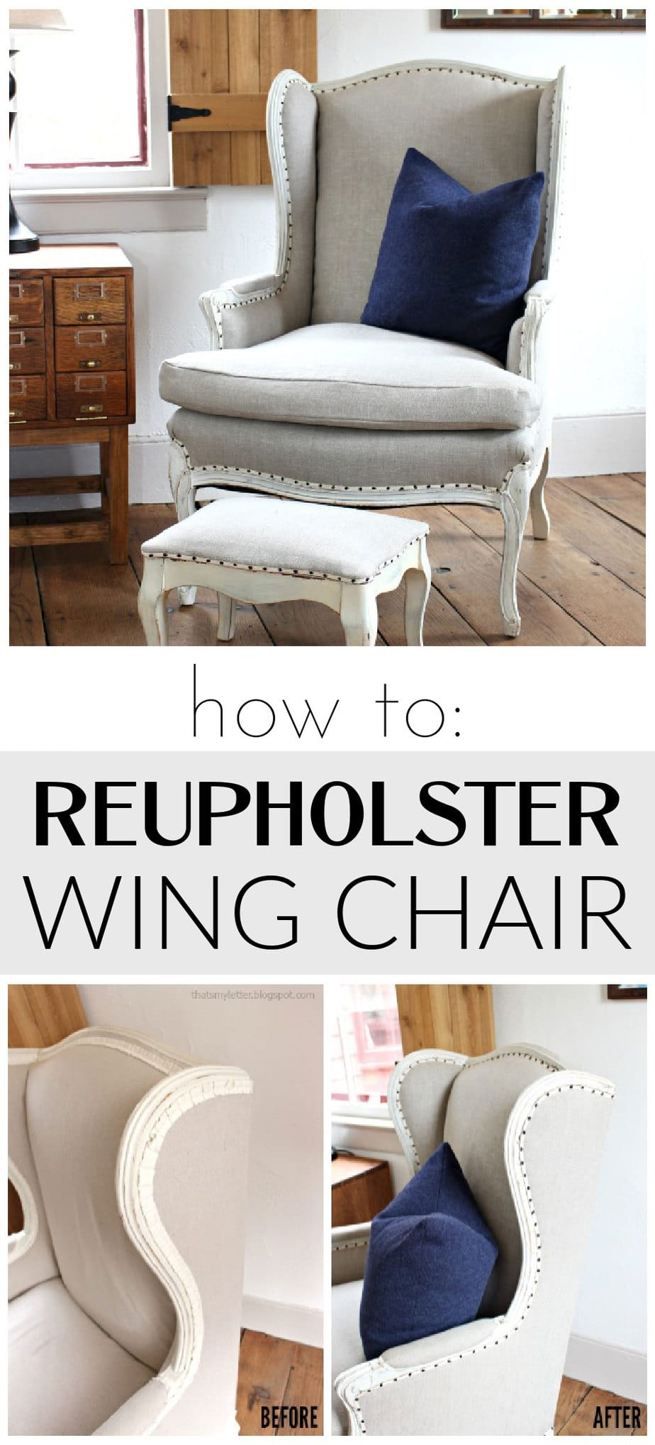 reupholstered wing chairs